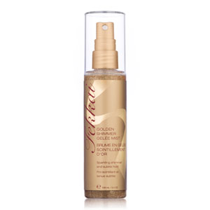 bottle of frederic fekkai golden shimmer gelee mist