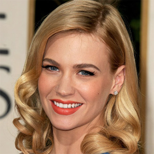 january jones at the 66th annual golden globes