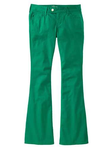 Green Bootcut Jeans | Bbg Clothing