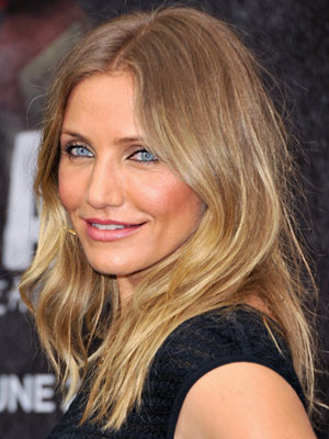 cameron diaz center part hairstyle