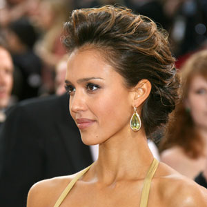 Jessica alba hairstyles pictures of jessica albas hair real jessica alba with updo pmusecretfo Image collections